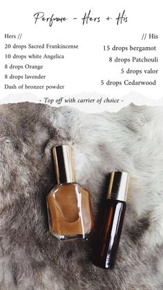H I S & H E R -Things to consider when buying perfumePermanent perfumes, intense perfumes, concentrated perfumes… It is essential to be conscious consumers by having the properties of perfumes which happen to have many varieties, and knowing their Yl Essential Oils, Essential Oil Perfume, Young Living Essential Oils, Essential Oil Blends, Homemade Perfume, Diy Perfume Recipes, Diy Love, Young Living Oils, Diy Craft Projects