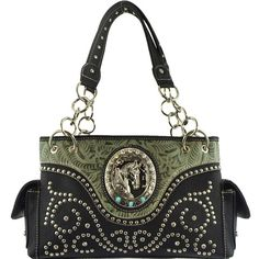 Horsehead Collection Studded Concealed Western Handbag