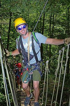 Tree top views - Canopy Tours #GoToWv
