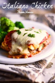 Italiano Chicken from Flavor Mosaic is like a little mini lasagna on top of a chicken breast. @Emealz