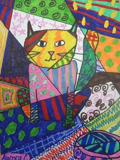 Romero Britto Art Lesson for Kids great for pattern and line