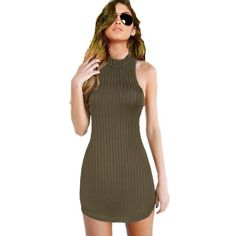 Striped Halter BodyCon Dress - Mini - Club Party Dress (3 Colours) – I Sell Goods