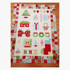 A Quilting Life - Christmas Quilt-a-long from Bee in My  Bonnet - found on Instagram    This quilt from aquiltinglife.com