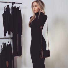 Danielle▪️️Black Dress Black turtleneck sweater dress (M) New Other