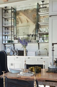In a farmhouse design, the side table seems to have important roles that are unreplaceable. The farmhouse side table is not there for merely functions but the right design and … Küchen Design, Home Design, Layout Design, Design Ideas, Dining Room Sets, Dining Nook, Bar Shelves, Glass Shelves, Open Shelves