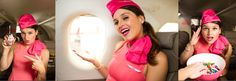 L'hôtesse de l'air blog, voyage, flight attendant blog, stewardess in pink