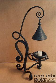 Candlestick, wrought iron. Svecnjak od kovanog gvozdja. Kolacek 1897