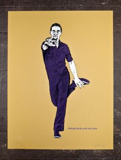 Jesus from the Big Lebowski limited edition screenprinted poster series. 18x24