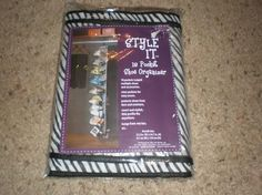 New! Style It 18 Pocket Shoe Organizer in Zebra and Clear Great Buy..free shipping
