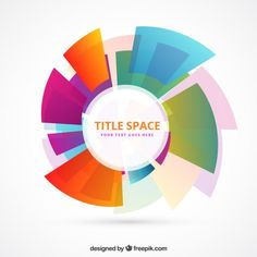 Circle template made of colorful shapes