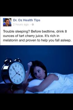 Dr. Oz tips for sleeping