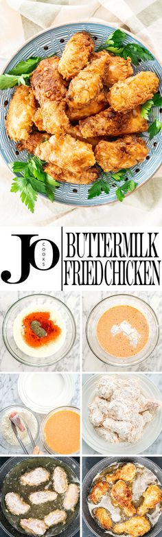 This Is The Best Ever Buttermilk Fried Chicken Super Juicy And Tender On The Inside Yet Crispy On The Outside And Bursting With Flavor Perfect For Lunch Or Dinner And Served With A Side Salad. Via Jocooks Buttermilk Fried Chicken, Fried Chicken Recipes, Sausage Recipes, Turkey Recipes, Meat Recipes, Cooking Recipes, Healthy Recipes, Delicious Recipes, Healthy Food