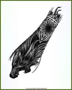 Elegant - From pictures of animals - Elegant – From pictures of animals - Viking Tattoo Sleeve, Viking Tattoo Symbol, Wolf Tattoo Sleeve, Norse Tattoo, Symbol Tattoos, Sleeve Tattoos For Women, Viking Tattoos, Tattoos For Guys, Tattoo Symbols