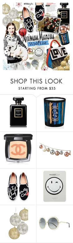 """""""The Holiday Wish List With Neiman Marcus: Contest Entry"""" by houseofhauteness ❤ liked on Polyvore featuring Neiman Marcus, Chanel, Diptyque, DwellStudio, Kate Spade, Anya Hindmarch, Chloé and Les Petits Joueurs"""