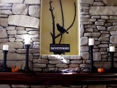 Spooky Halloween Table Settings and Decorations : Inspired by Edgar Allen Poe's The Raven... Very cool!