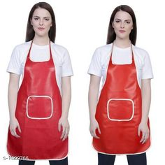 Aprons Classic Aprons ( Pack Of 2)  *Material * Apron - PVC  *Size (L x W)* Apron - 18  in x 28 in  *Description* It Has 2 Piece Of Kitchen Apron  *Pattern* Solid  *Sizes Available* Free Size *   Catalog Rating: ★4.2 (220)  Catalog Name: Hiba Lovely Aprons Combo Vol 1 CatalogID_123448 C129-SC1633 Code: 142-1022766-