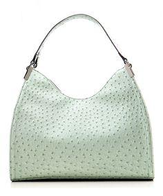 Look what I found on #zulily! emilie m. Mint Ostrich Irene Shoulder Bag by emilie m. #zulilyfinds