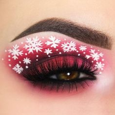 Creative And Gorgeous Christmas Makeup Ideas For The Big Holiday; Christmas Makeup Looks; Holiday Makeup Looks; Pink Eye Makeup, Eye Makeup Art, Colorful Eye Makeup, Makeup For Green Eyes, Eye Makeup Tips, Beauty Makeup, Makeup Ideas, Makeup Inspo, Makeup Inspiration