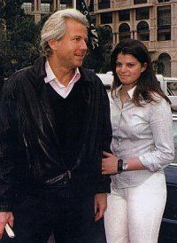 Thierry Roussel and his daughter Athina Onassis Roussel