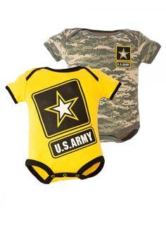 Army Baby 2pc Bodysuit Set - Ammo Can Man
