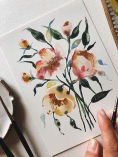 Pastel Watercolor, Watercolor Artists, Watercolor Paintings, Original Artwork, Original Paintings, Unique Paintings, Botanical Illustration, In This World, Originals