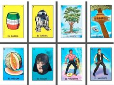 Mexican Culture + Star Wars = Mexican Loteria Cards
