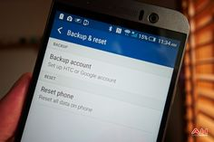 Android How To: Perform A #FactoryReset On The HTC #OneM9