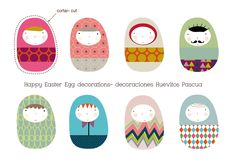 Huevitos de Pascua Imprimibles GRATIS- FREE Easter Egg printables / Kids custom wall art, prints and murals-Cuadros infantiles, láminas y tarjetas para fiestas