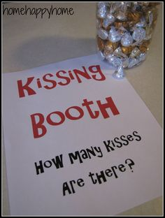 Carnival party ideas...cute idea! No real kisses involved! Fun Family Reunion Theme! Xmas Party, Valentines Day Party, Carnival Birthday Parties, Circus Party, Holiday Parties, Valentines Games, Valentine Ideas, Theme Parties, Circus Birthday