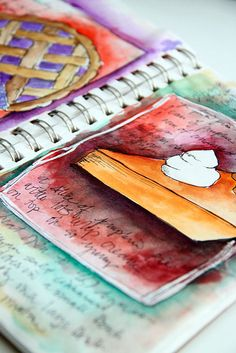 alisa burke -I have always wanted to do a recipe scrapbook/scetchbook like this.