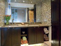 This espresso vanity and tile work is beautiful! http://www.hgtv.com/designers-portfolio/room/contemporary/bathrooms/4138/index.html?soc=pinterest