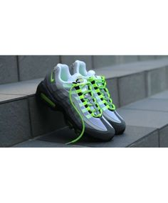 7ffbd89cada14 Nike Air Max 95 OG Neon Green Grey White Shoes Air Max 95 Neon