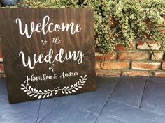 Welcome to the Wedding of Sign / Welcome to our Wedding / LittleBrownnSuitcase / Wedding Wood Decor by LittleBrownnSuitcase on Etsy https://www.etsy.com/listing/270525569/welcome-to-the-wedding-of-sign-welcome