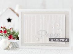 The world is full of troubles at the moment, so this is my Holiday wish - Peace. So when I saw the new Dotty December sets from Clearly Besotted I knew I wanted Holiday Wishes, Holiday Cards, Christmas Holidays, Christmas Crafts, Christmas Ideas, Xmas, Religious Christmas Cards, Doodle Designs, Card Making Inspiration