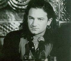 Bono Joshua Tree style: hoop earrings, vests, ropers, turquoise, Meso American woven textiles http://members.tripod.com/~u2_inspire/sitebuildercontent/sitebuilderpictures/bono241.jpg