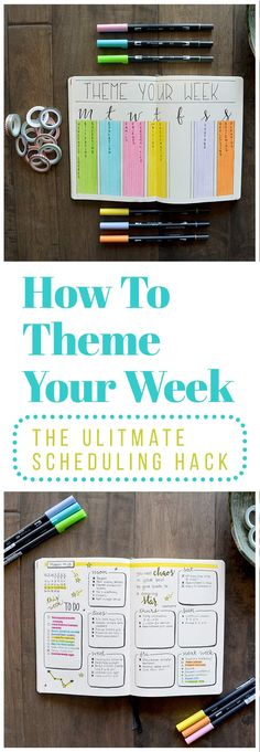 Theming your week is easy. 1. Choose your themes: You know better than anyone else which time and attention. 2. Assign your themes to days of the week 3. Add your themes to your schedule: I chose to do this by creating one color-coded key page with all of my themes written out. 4. Reevaluate as needed: You may find as you go that you've chosen a theme for which you actually don't have all that much to do. Just click the image to learn more. via @LittleCoffeeFox