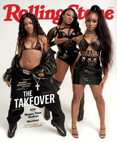 Megan Thee Stallion, SZA and Normani - Rolling Stone Magazine Cover, Megan Thee Stallion, Normani, SZA New Pics Rolling Stone Magazine Cover, Vanity Fair, Looks Hip Hop, Hot Girls, Black Magazine, Nme Magazine, Magazine Covers, Happy Black, Black Girl Aesthetic