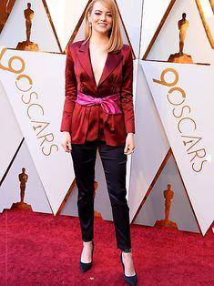 Mal ganz was anderes: Emma Stone bei den Oscars im Hosenanzug