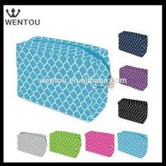 Wholesale monogram Quatrefoil cosmetic Bag