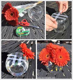 DIY Fall Flower Arrangement   4 dollar grocery store bouquet + dollar store vase   Thanksgiving centerpiece idea