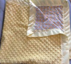 Minky baby blanket with matching burp cloth by GrandmaDeeDees, $35.00