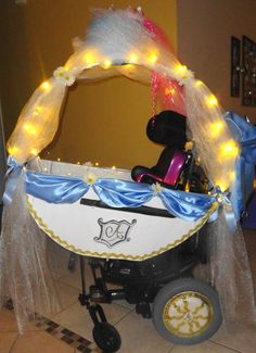 Check out what one military spouse created for her daughter's wheelchair for Halloween!