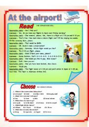 English teaching worksheets: At the airport