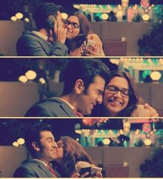 Fav scene!!! Bollywood Quotes, Bollywood Couples, Bollywood Actors, Bollywood Celebrities, Movie Pic, Movie Shots, Yjhd Quotes, Drama Memes, Indian Movies