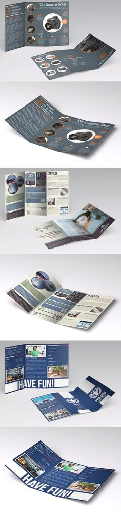 Trifold Borchures Template AI, EPS, INDD, PSD - A4 / US Letter