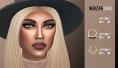 Sims 4 CC's - The Best: Septum Pack by KenzarSims