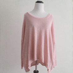Nasty Gal Pullover sweater tunic ➖CONDITION: NWT ➖SIZE: medium ➖STYLE: pink pullover sweater tunic  ➖BRAND: Nasty Gal Nasty Gal Sweaters