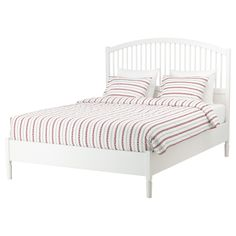 IKEA - TYSSEDAL, Bed frame, Queen, Lönset, , Adjustable bed sides allow you to use mattresses of different thicknesses.30 slats of layer-glued birch adjust to your body weight and increase the suppleness of the mattress.