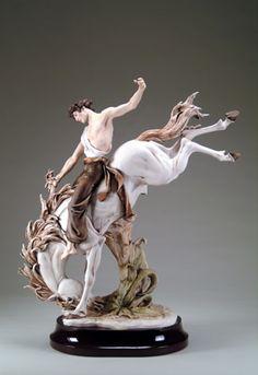 WILD HORSE Giuseppe Armani Porcelain Figurine Ltd Ed 1935C | MonsterMarketplace.com