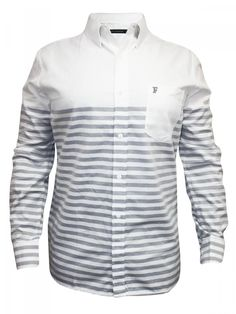 Fcuk White & Grey Casual Shirt | 52eaq-folkstone Grey | Cilory.com